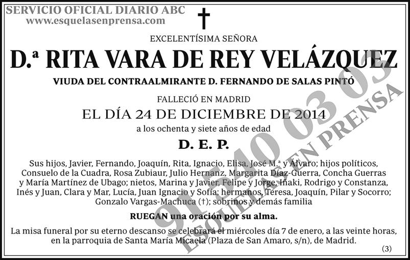 Rita Vara de Rey Velázquez